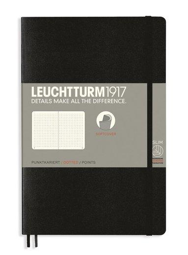 Anteckningsbok B6 Leuchtturm1917 prickad mjuk pärm svart 1