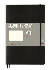 Anteckningsbok B6 Leuchtturm1917 olinjerad mjuk pärm svart