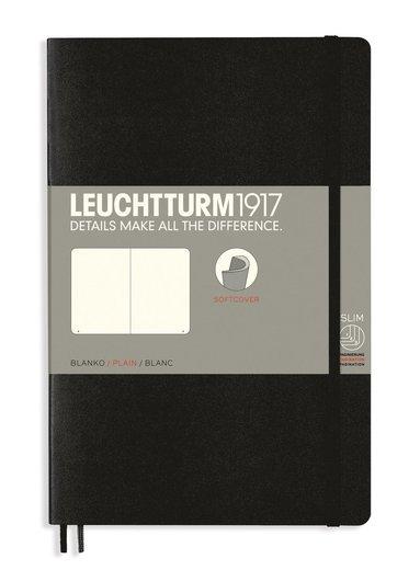 Anteckningsbok Leuchtturm1917 B6 olinjerad mjuk pärm svart