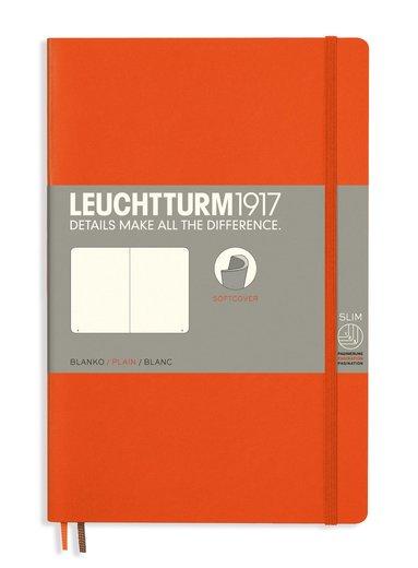 Anteckningsbok Leuchtturm1917 B6 olinjerad mjuk pärm orange