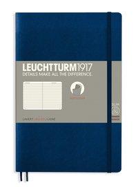 Anteckningsbok B6 Leuchtturm1917 linjerad mjuk pärm mörkblå