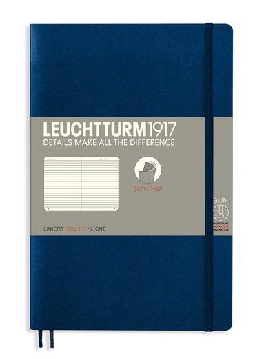 Anteckningsbok Leuchtturm1917 B6 linjerad mjuk pärm mörkblå