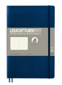 Anteckningsbok B6 Leuchtturm1917 prickad mjuk pärm mörkblå