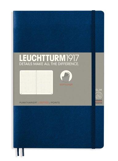 Anteckningsbok B6 Leuchtturm1917 prickad mjuk pärm mörkblå 1