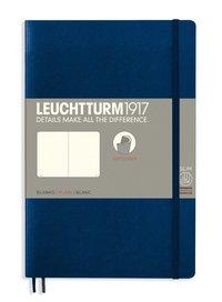 Anteckningsbok B6 Leuchtturm1917 olinjerad mjuk pärm mörkblå