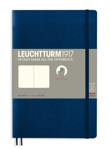 Anteckningsbok Leuchtturm1917 B6 olinjerad mjuk pärm mörkblå