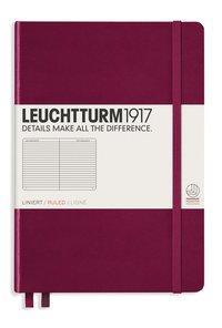 Anteckningsbok Leuchtturm1917 A5 linjerad vinröd