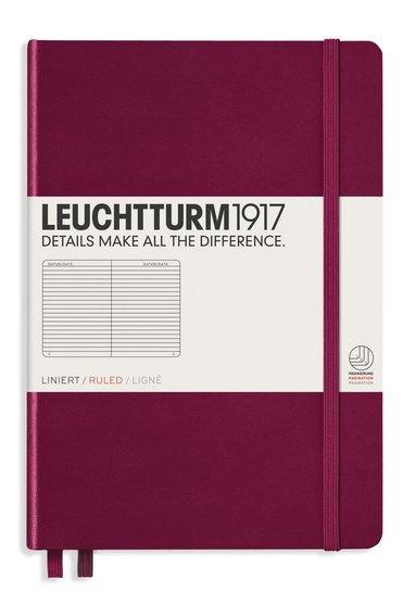 Anteckningsbok A5 Leuchtturm1917 linjerad vinröd 1