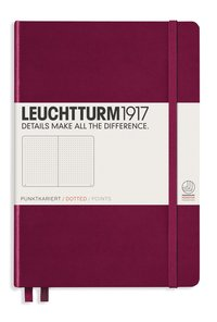 "Anteckningsbok A5 Leuchtturm1917 ""Bullet Journal"" vinröd"
