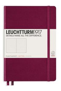 "Anteckningsbok Leuchtturm1917 ""Bullet Journal"" A5 vinröd"
