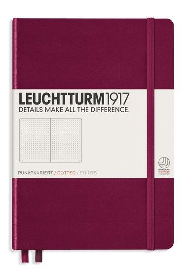 "Anteckningsbok A5 Leuchtturm1917 ""Bullet Journal"" vinröd 1"