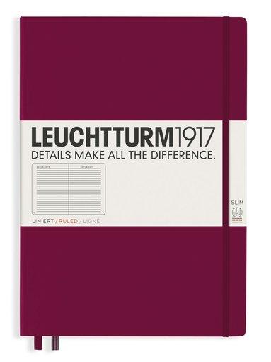 Anteckningsbok Leuchtturm1917 A4+ Slim linjerad vinröd
