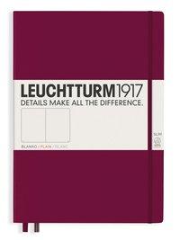 Anteckningsbok Leuchtturm1917 A4+ Slim olinjerad vinröd