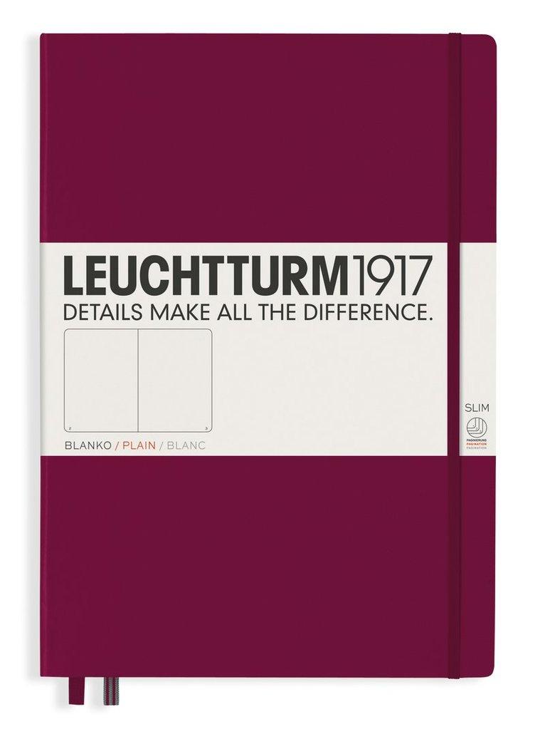 Anteckningsbok A4+ Leuchtturm1917 slim olinjerad vinröd 1