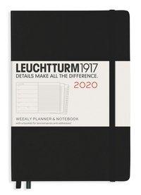 Kalender 2020 Leuchtturm A5 Vecka/Uppslag notes svart