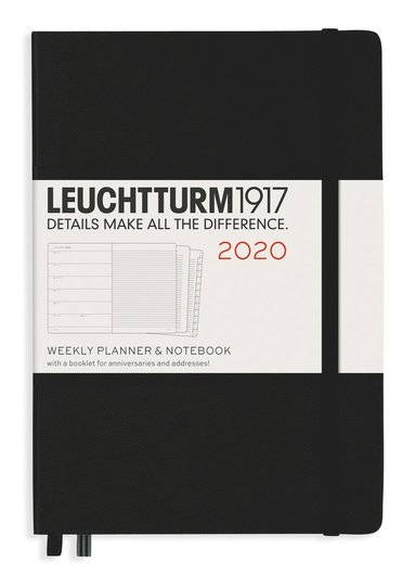 Kalender 2020 Leuchtturm A5 Vecka/Uppslag notes svart 1
