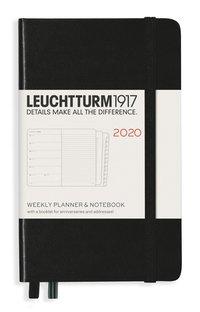 Kalender 2020 Leuchtturm A6 Vecka/Uppslag notes svart