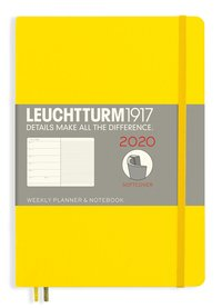 Kalender 2020 Leuchtturm A5 Vecka/Uppslag notes mjuk gul