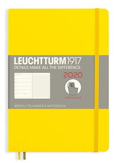 Kalender 2020 Leuchtturm A5 Vecka/Uppslag notes mjuk gul 1