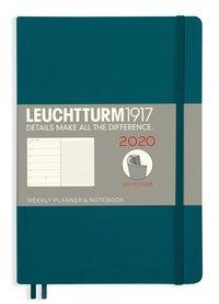 Kalender 2020 Leuchtturm A5 Vecka/Uppslag notes mjuk grön