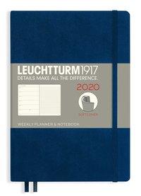 Kalender 2020 Leuchtturm A5 Vecka/Uppslag notes mjuk blå