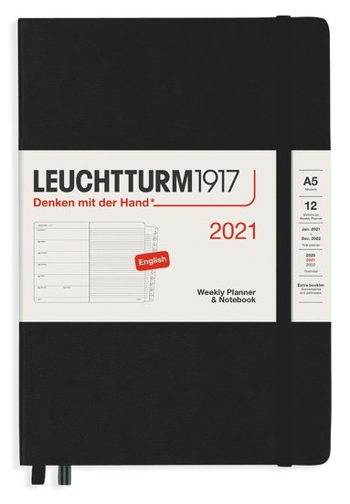 Kalender 2021 Leuchtturm1917 A5 Vecka/Sida notes svart