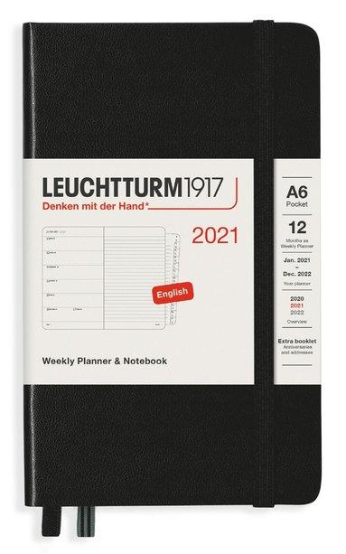 Kalender 2021 Leuchtturm1917 A6 Vecka/Sida notes svart