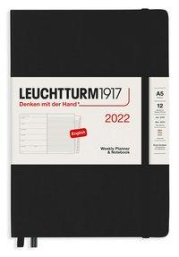 Kalender 2022 Leuchtturm1917 A5 vecka/notes svart