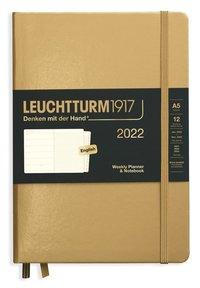 Kalender 2022 Leuchtturm1917 A5 vecka/notes guld