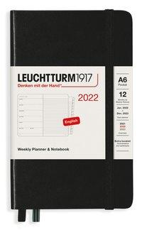 Kalender 2022 Leuchtturm1917 A6 vecka/notes svart