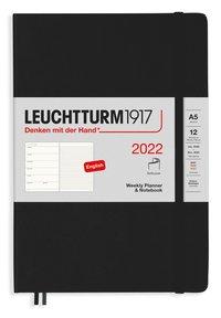 Kalender 2022 Leuchtturm1917 A5 vecka/notes mjuk svart