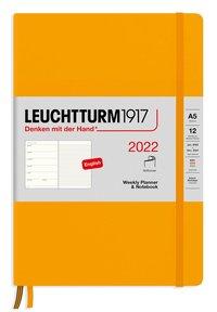 Kalender 2022 Leuchtturm1917 A5 vecka/notes mjuk orange