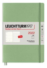 Kalender 2022 Leuchtturm1917 A5 vecka/notes mjuk grön