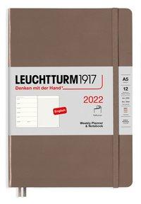Kalender 2022 Leuchtturm1917 A5 vecka/notes mjuk brun