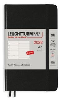 Kalender 2022 Leuchtturm1917 A6 vecka/notes mjuk svart