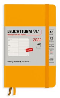 Kalender 2022 Leuchtturm1917 A6 vecka/notes mjuk orange