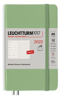 Kalender 2022 Leuchtturm1917 A6 vecka/notes mjuk grön