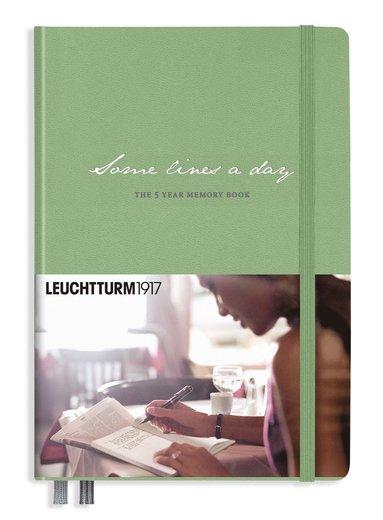 "5-årsdagbok Leuchtturm1917 A5 ""Some lines a day"" salvia"