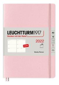 Kalender 2022 Leuchtturm1917 A5 vecka/uppslag mjuk rosa