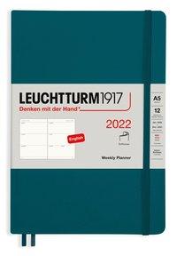 Kalender 2022 Leuchtturm1917 A5 vecka/uppslag mjuk grön