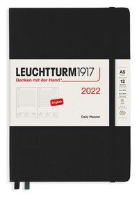 Kalender 2022 Leuchtturm1917 A5 dag/sida svart