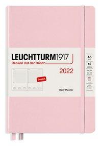 Kalender 2022 Leuchtturm1917 A5 dag/sida rosa
