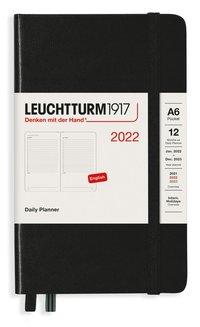 Kalender 2022 Leuchtturm1917 A6 dag/sida svart