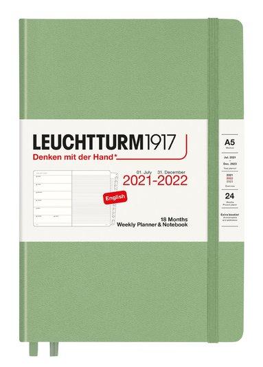 Kalender 2021-2022 18 mån A5 Vecka/sida sage 1