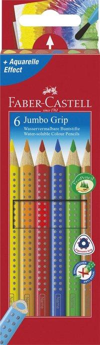 Färgpenna Faber-Castell Jumbo Grip 6 färger