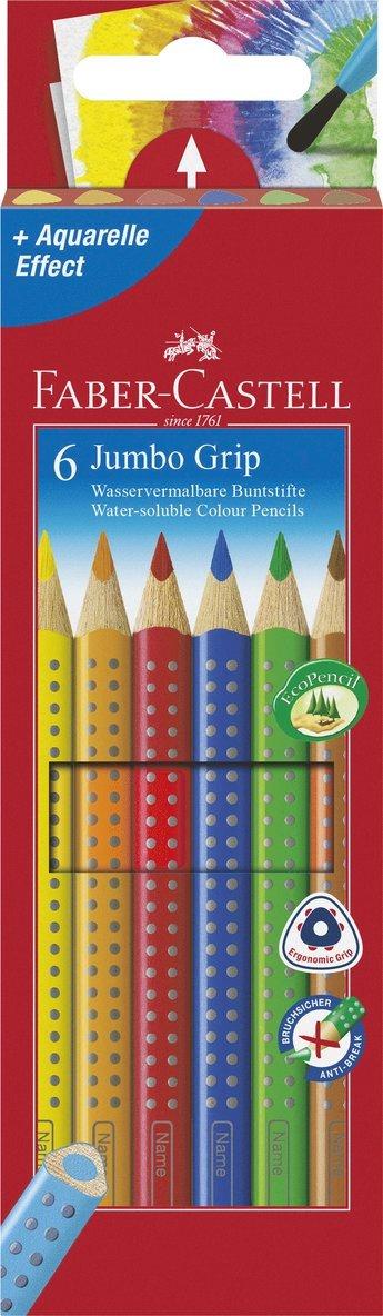 Färgpenna Jumbo Grip 6 färger 1