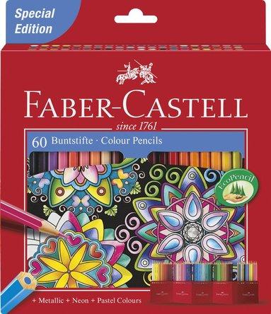 Färgpenna etui 60frg bas pastell, neon & metallic
