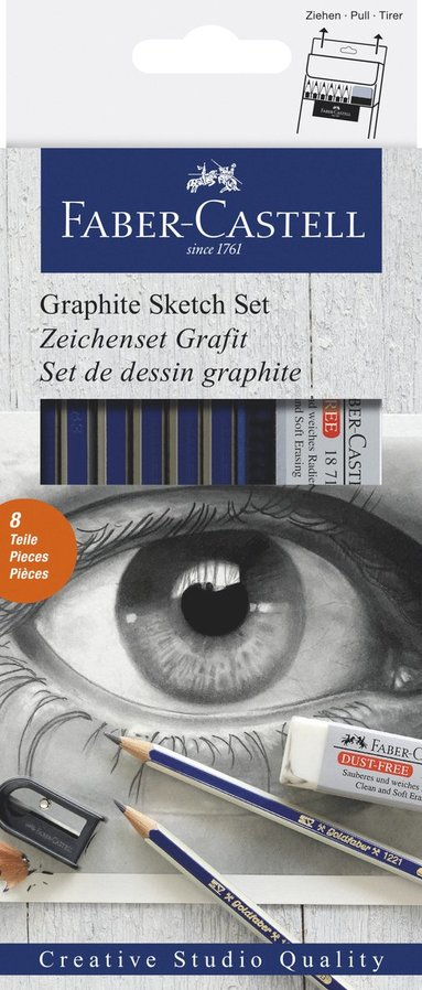 Skisset grafit 6 delar