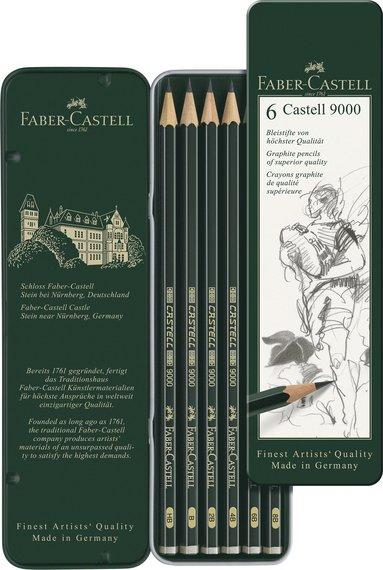Blyertspenna Castell 9000 6-pack 1