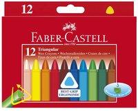 Vaxkrita Faber-Castell trekantig 12 färger